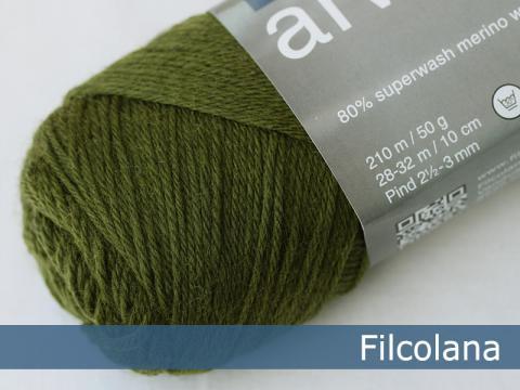 Garnnøgle fra Filcolana Arwetta Classic Deep Olive 148