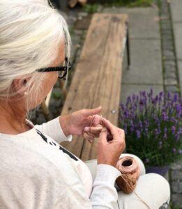 Lene - lære at strikke