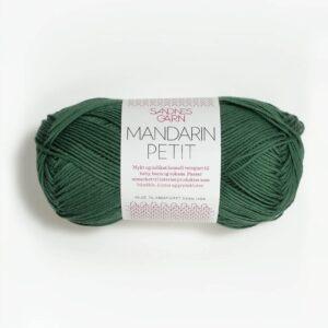 Garnnøgle fra Sandnes Mandarin Petit Mørk Grønn 8052