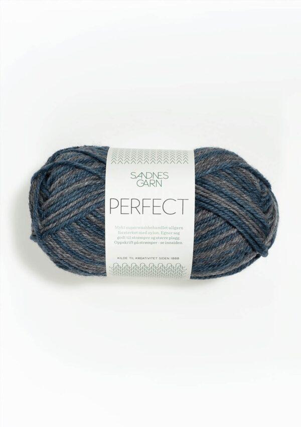 Garnnøgle fra Sandnes Perfect Blå/Grå Print 6562