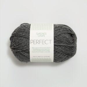 Garnnøgle fra Sandnes Perfect Mørk Gråmelert 1053