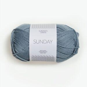 Garnnøgle fra Sandnes Sunday Isblå 6501