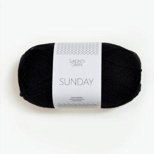 garnnøgle fra Sandnes Sunday Svart 1099