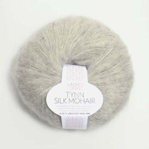 Tynn Silk Mohair Lys grå 1022