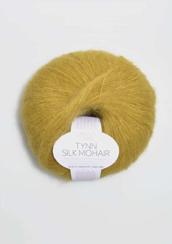 Tynn Silk Mohair Gul Grøn 2024