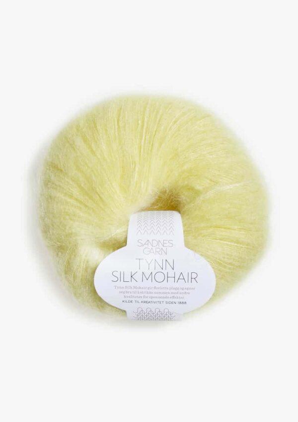 Tynn Silk Mohair Lys Gul 2101