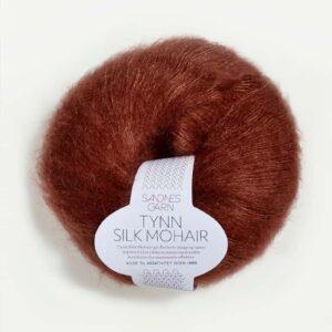 Tynn Silk Mohair Rust 3554