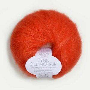 Tynn Silk Mohair Mørk Orange 3818