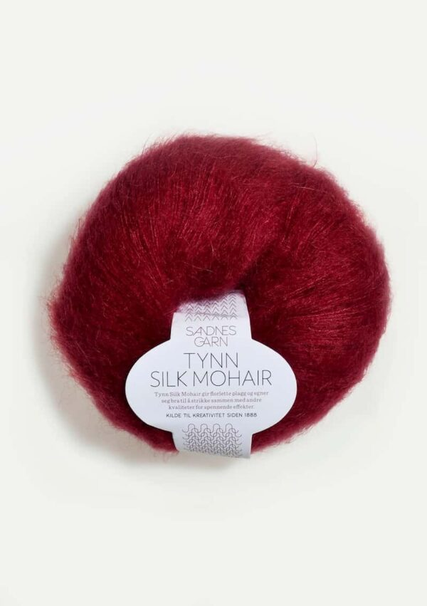 Tynn Silk Mohair Dyb Rød 4236
