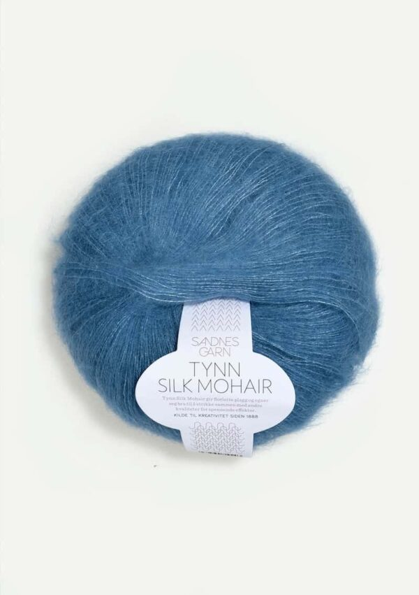 Tynn Silk Mohair Mørk Himmelblå 6042