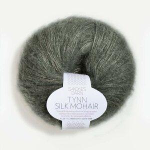 ynn Silk Mohair Støvet Olivengrøn 9071