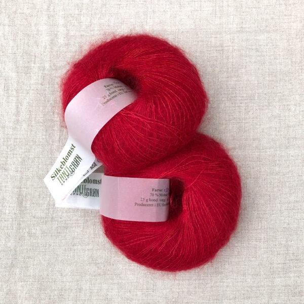 Garnnøgler fra Tante Grøn CPH Silkeblomst Rød 1559