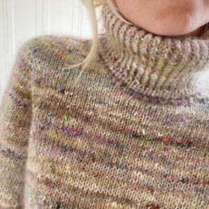 Opskrift billeder fra Petiteknit Terrazzo Sweater