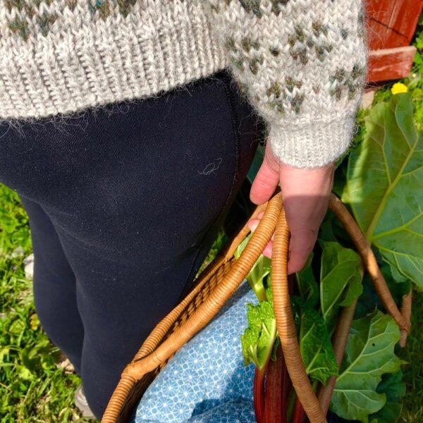 Ærmet på Havesweateren fra PixenDk