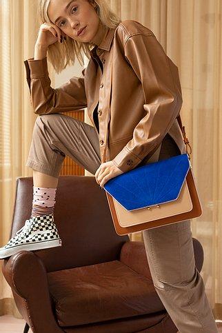 satchel   coloré   cinnamon brown