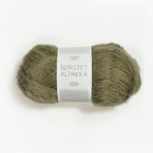 Spændende garn fra Tante Grøn CPH - Sandnes Børstet Alpaca 9554 Mosegrøn