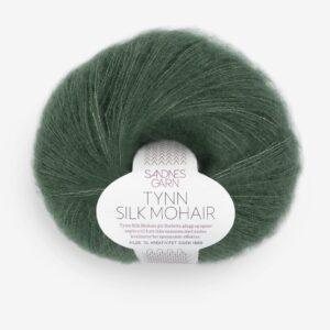 Tynn Silk Mohair Dyp Skoggrønn fra Sandnes