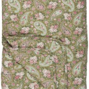 Quilt grøn m/faded rose paisley